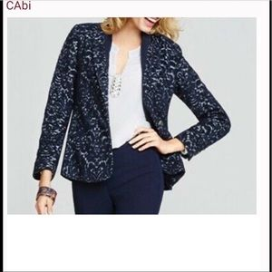 NWOT CAbi blue wool blend blazer never worn